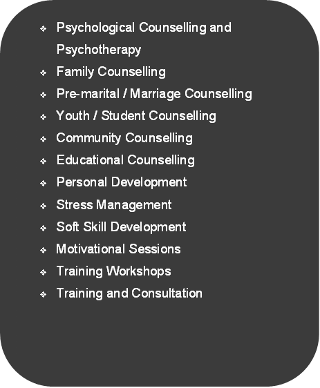 v	Psychological Counselling and Psychotherapy